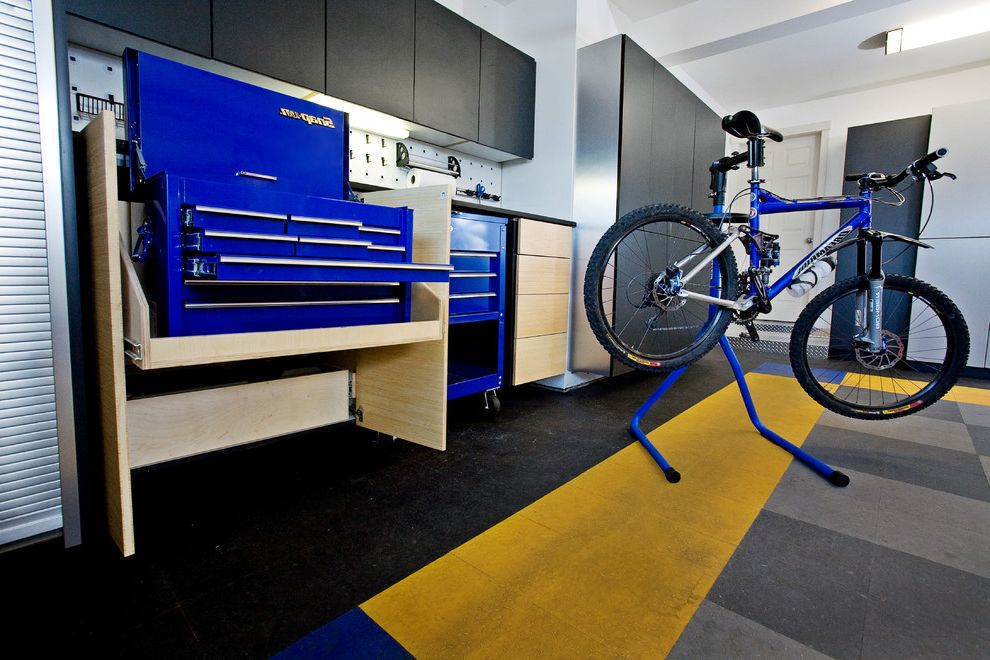 Motorized Garage Storage Lift with Modern Garage  and Abodian Blue Cabinet Color Garage Garage Storage Rug Storage Storage Cabinet Yellow Yellow and Blue
