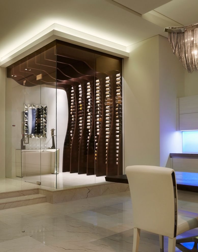 Movies Boca Raton with Contemporary Wine Cellar Also Curved Dining Room Glass Enclosure Glass Wall Led Lighting Steps