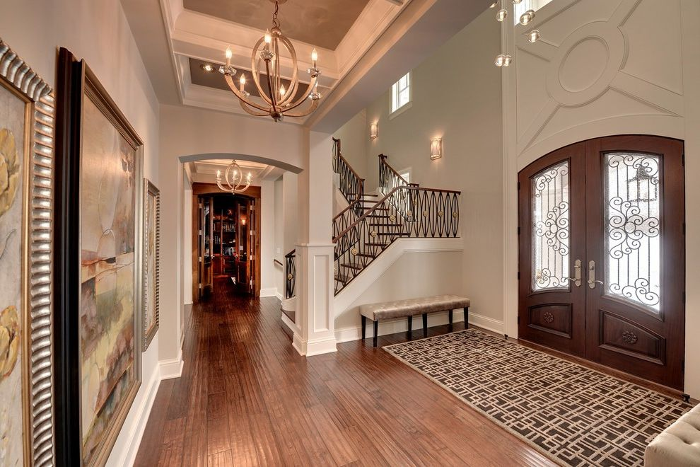 Multigenerational Homes   Traditional Entry Also Chandelier Foyer Staircase
