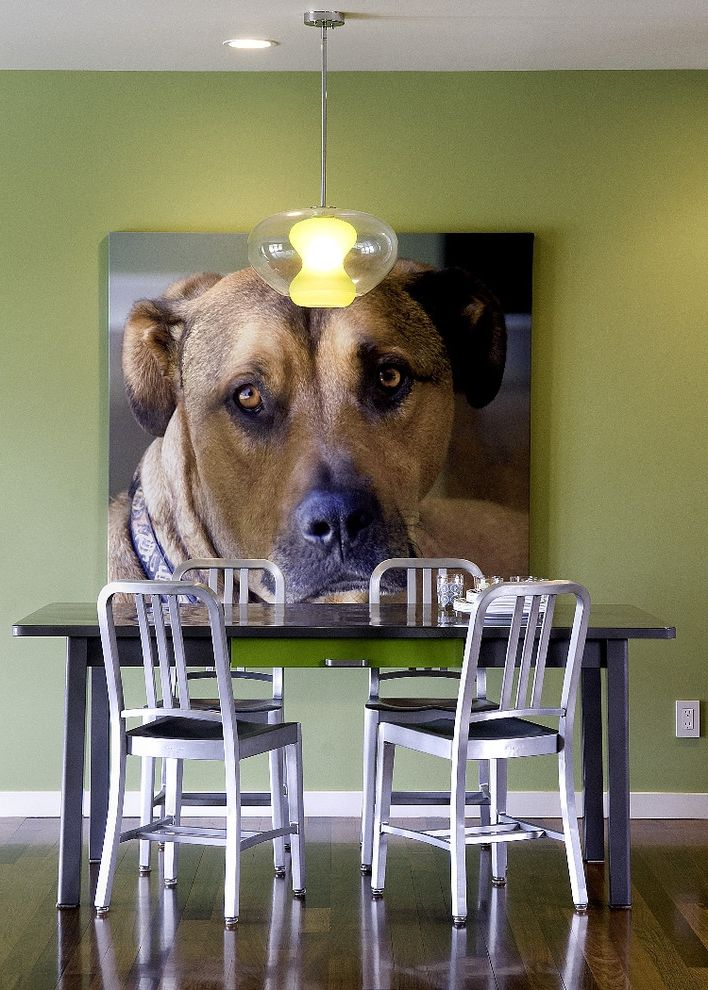 My Dog Keeps Peeing with Modern Dining Room Also Breakfast Nook Dining Chairs Dining Table Green Painted Walls Pendant Light Wall Art White Baseboards Wood Floors