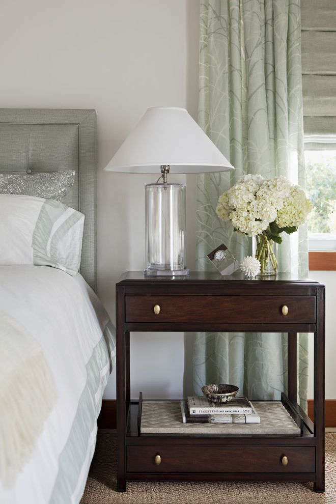 Narrow Night Table   Transitional Bedroom Also Transitional