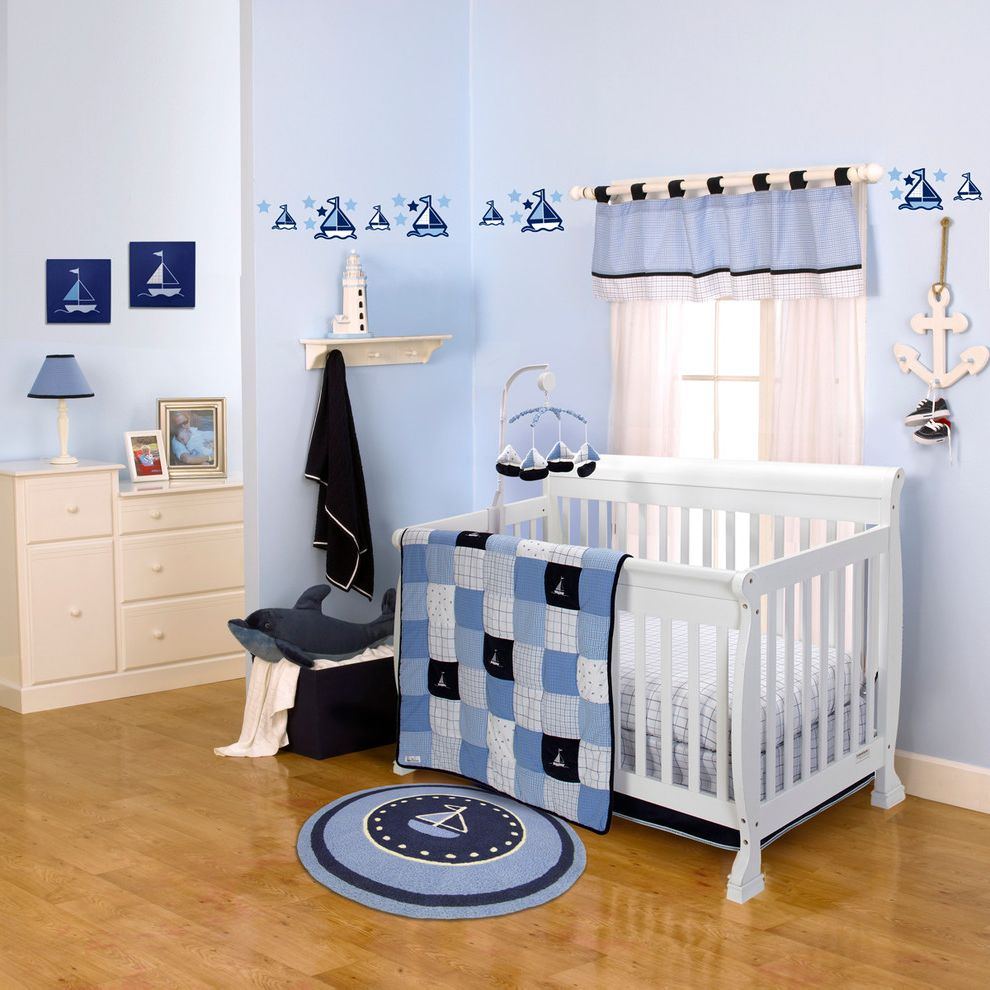 Nautica Quilts   Beach Style Nursery  and Anchor Art Baby Blanket Blue Boy Canvas Decal Decals Dots Infant Kids Lamp Mobile Music Musical Mobile Navy Nursery Ocean Patterns Plaid Round Rug Rug Sail Boat Sailboat Sailing Sea Stars Stripes Water