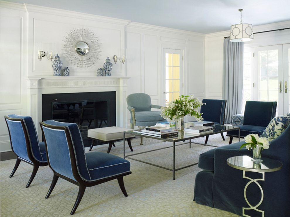 blue chairs for living room navy blue velvet chair traditional living room also blue 19160