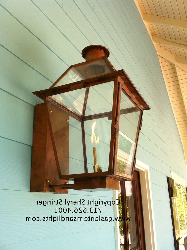 Sheryl S New Orleans Style Gas Lantern With Gl Top Photo Credit To Stringer