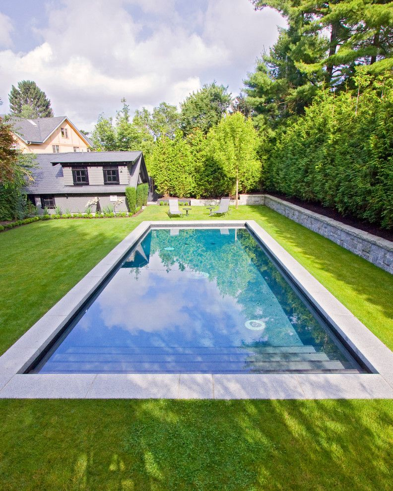 Newark Swimming Pool with Traditional Pool Also Backyard Blue Pool Blue Quartz Formal Back Garden Landscape Lawn Outdoor Pool Quartz Stone Wall Swim Swimming Pool Swimming Pool Construction Traditional Vancouver