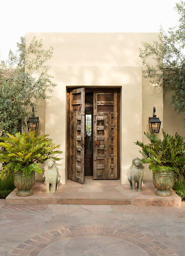 Noaa San Diego   Mediterranean Entry Also Beige Siding Clean Custom Luxury Mission Style Outdoor Lighting Remodel Rustic Elegance Spanish Style