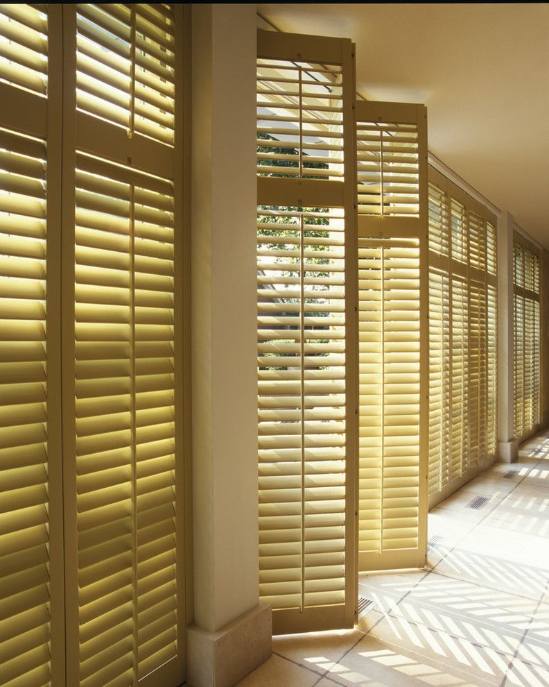 Norman Window Fashions With Transitional Living Room And Cellular Shades Composite Shutters