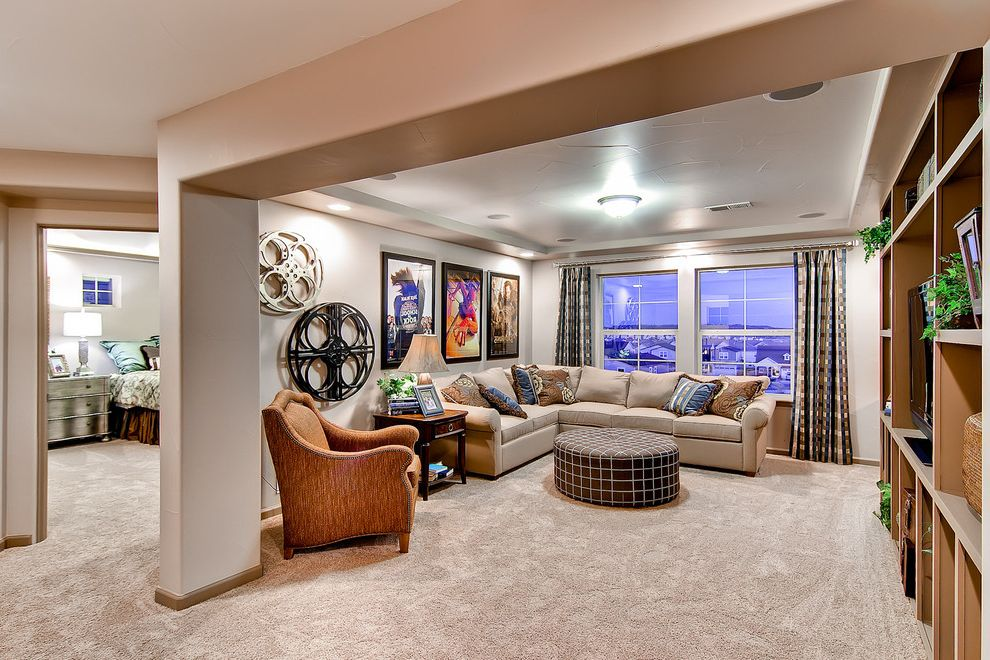 Oakwood Theater   Eclectic Home Theater Also Colorado Homes Living Room Oakwood Homes the Boulderado