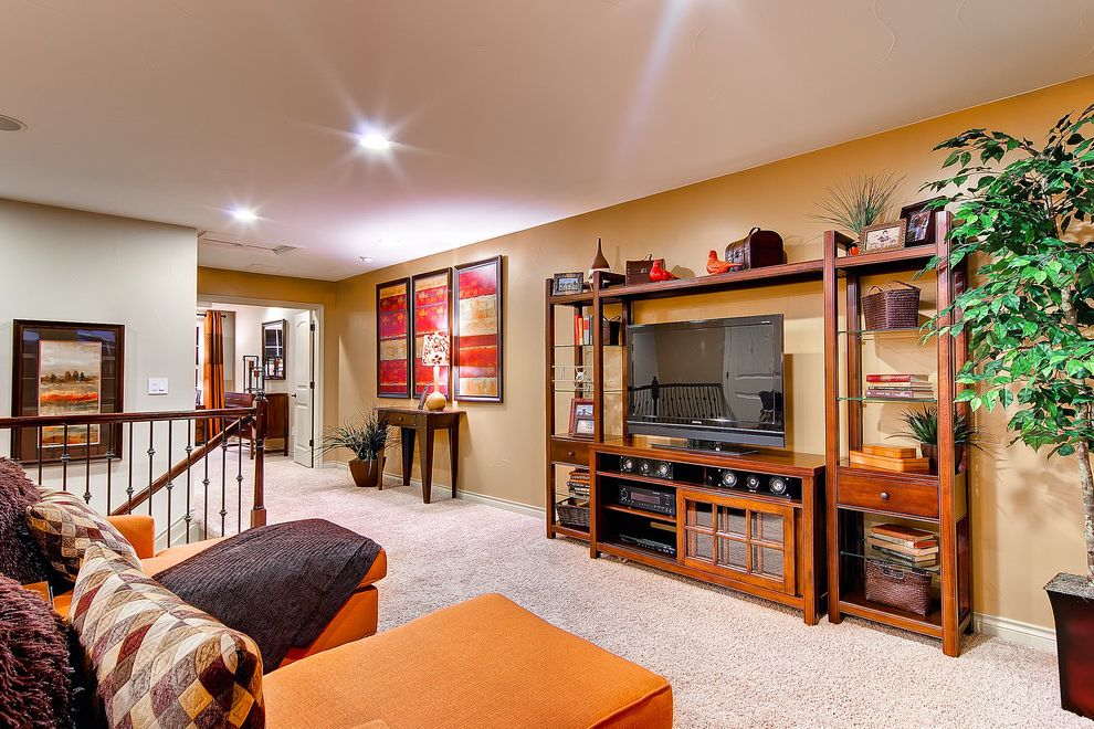Oakwood Theater   Traditional Home Theater  and Colorado Homes Entertainment Center Entertainment Room Family Room Oakwood Homes the Augusta