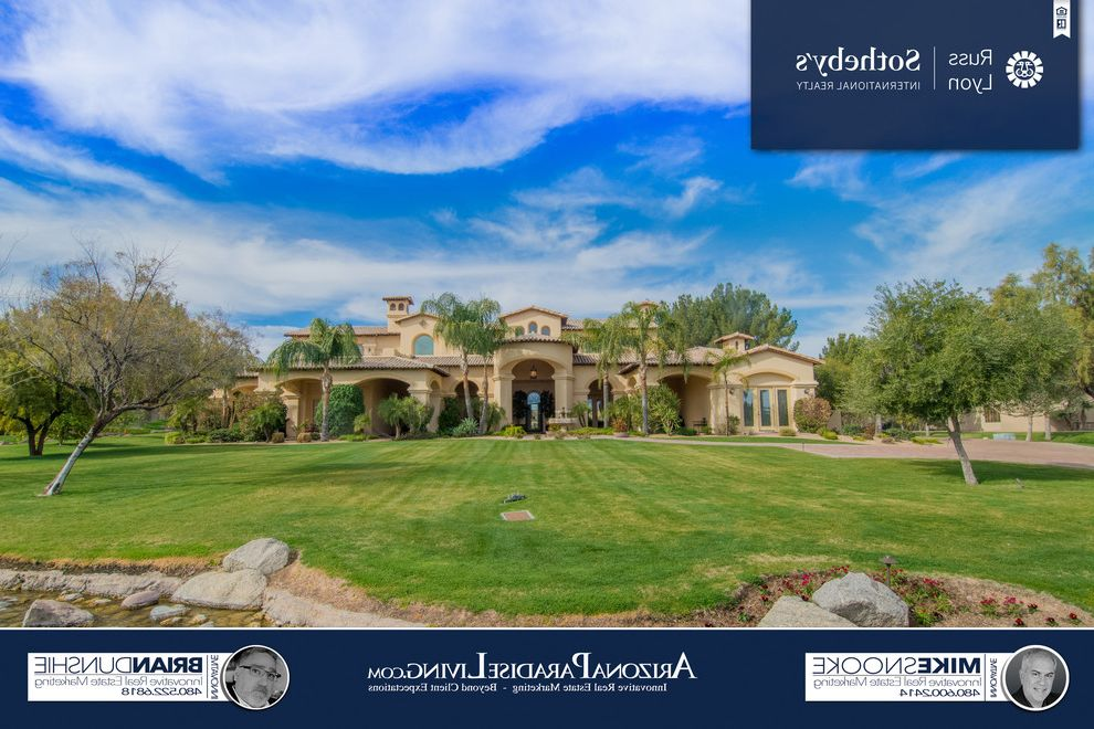 Oakwood Theater with Mediterranean Exterior Also Brian Dunshie Luxury Agent Chandler Luxury Homes Gated Lake Communities Lake Community Luxury Custom Home Oakwood Hills Russ Lyon Sothebys International Realty Tranquil Lake Views