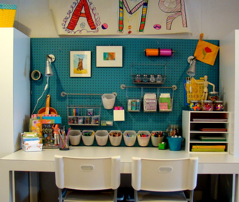 Okay Google Home Depot   Contemporary Kids Also Art Room Blue Wall Built in Craft Room Modular Playroom Storage White Desk Workstation