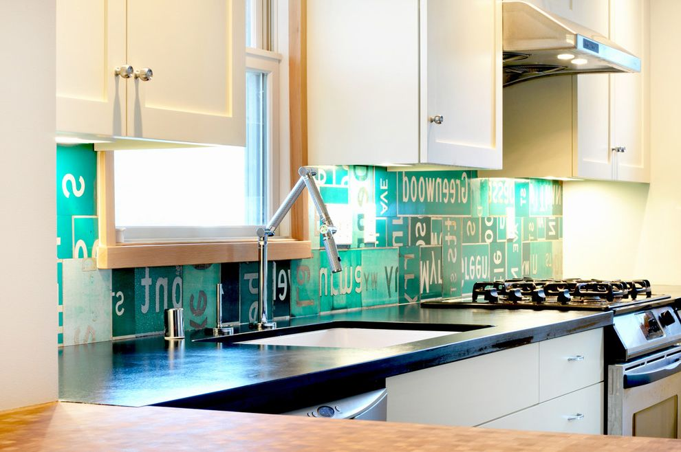 Old Neon Signs for Sale with Eclectic Kitchen  and Eclectic