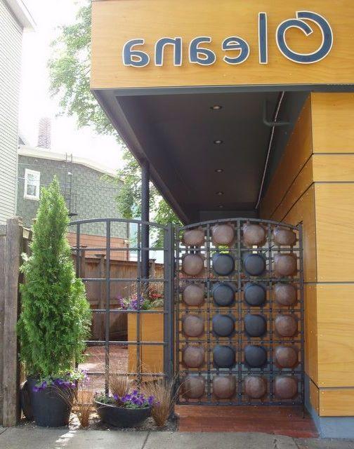 Oleana Boston   Mediterranean Entry  and Best of Boston Brick Bulbs Herbs Outdoor Dining Restaurant Vines