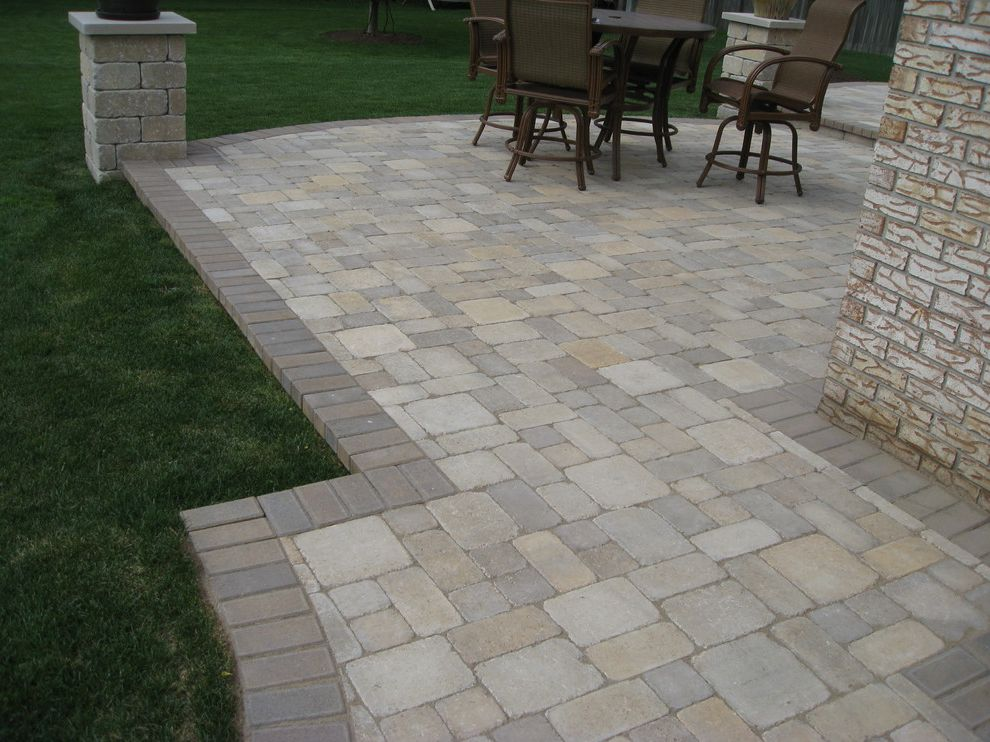 Orco Pavers with Traditional Patio  and Traditional