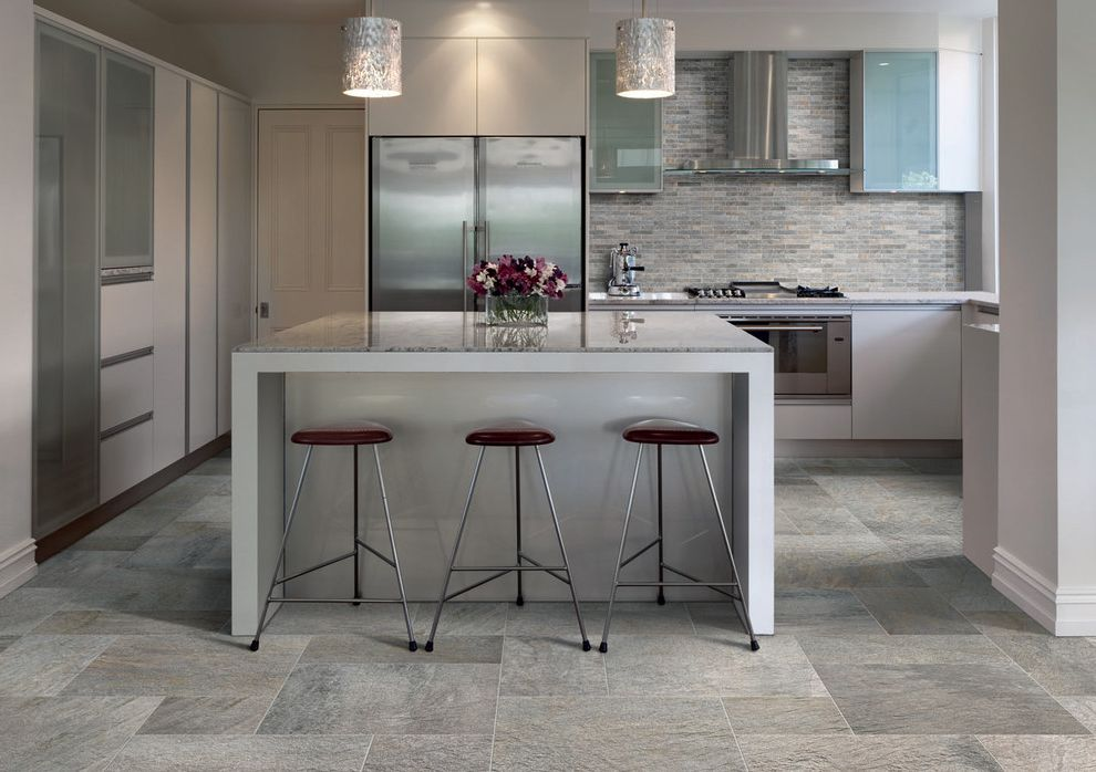 Oregon Tile and Marble   Contemporary Kitchen Also Italian Porcelain Pietra Naturale Slate Look Porcelain Tile