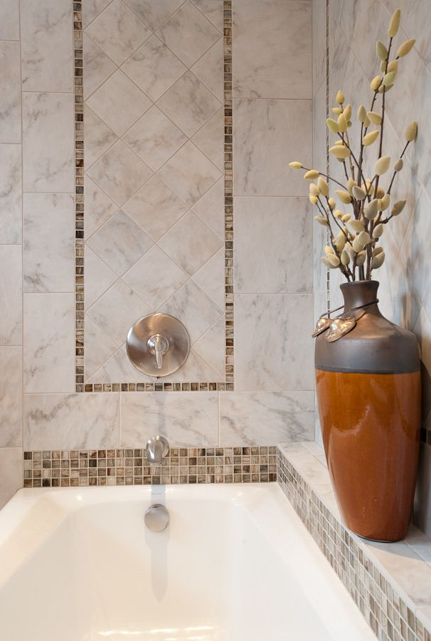Oregon Tile and Marble with Contemporary Bathroom  and Asian Glass Tile Kohler Tub Lunada Bay Tile Marble Natural Materials Neutral Organic Relaxing Rohl Shower Small Bathroom Small Spaces Tile Tile Design Tile Installation Tub Zen