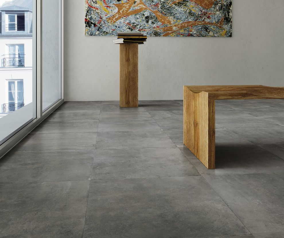 Oregon Tile and Marble with  Spaces  and Concrete Look Porcelain Tile Monocibec Nextra