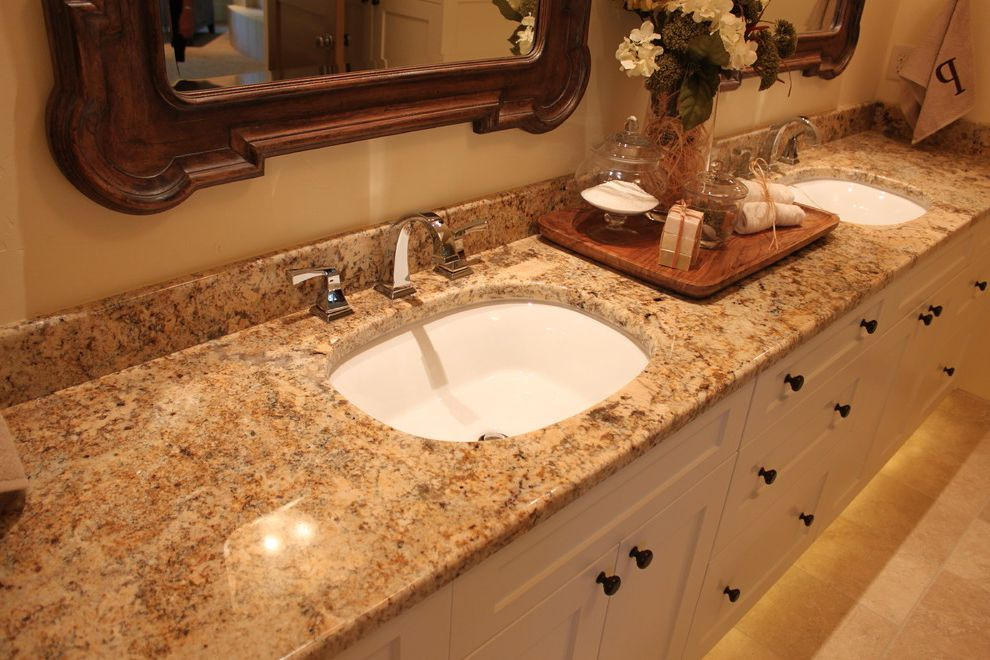 Oregon Tile and Marble with Traditional Bathroom Also Colonial Cream Granite Countertop
