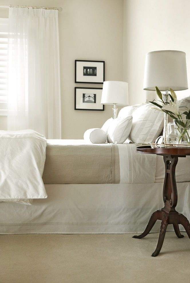 Organic Egyptian Cotton Sheets with Traditional Bedroom  and Bedroom Chrome Drapery Linens Neutral Sheers White