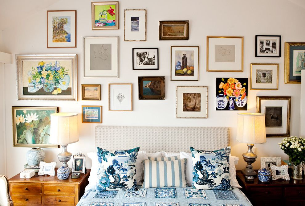 Ornament Picture Frames With Traditional Bedroom And Art Arrangement Art Collage Artwork Bed