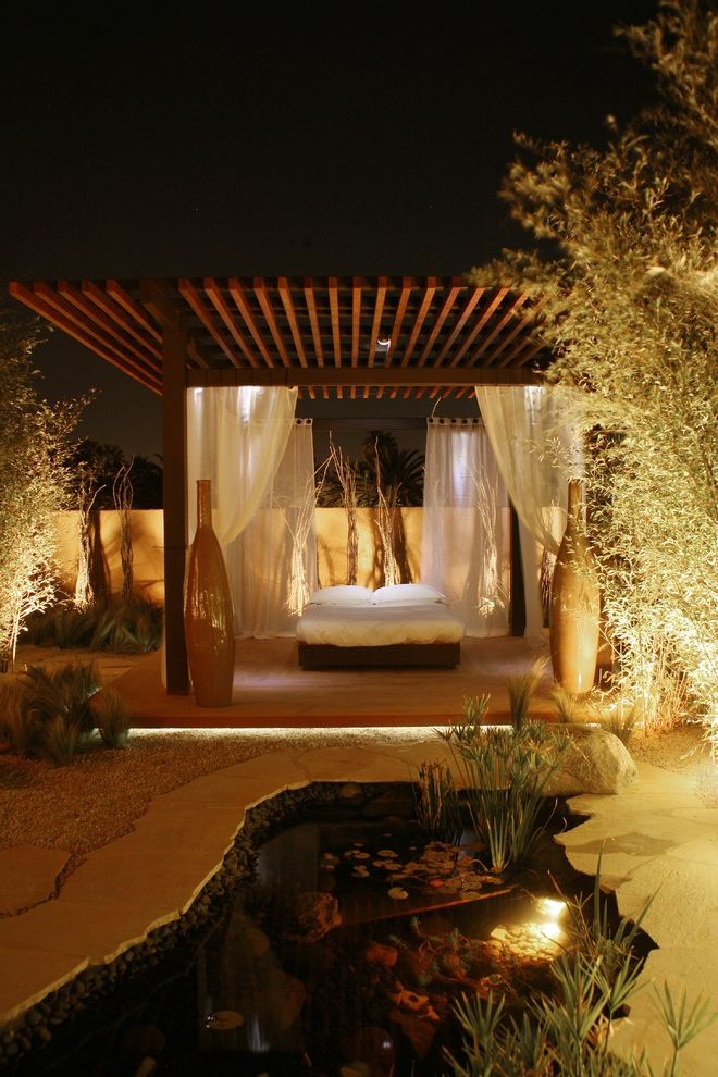 Outdoor Cabana Bed   Contemporary Patio Also Contemporary
