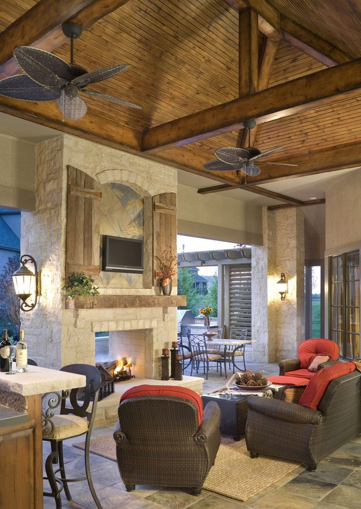 Outdoor Tv Cabinet Plans With Mediterranean Patio And