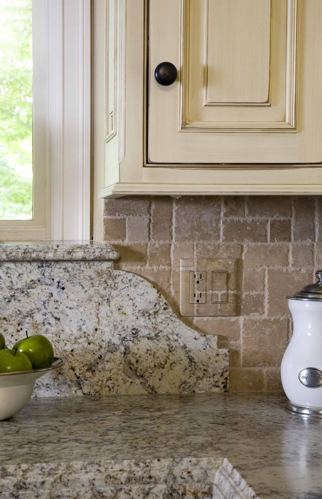 Oversized Switch Plates    Spaces  and Bronze Hardware Decorative Edge Detail Hidden Outlet Stone Backsplash