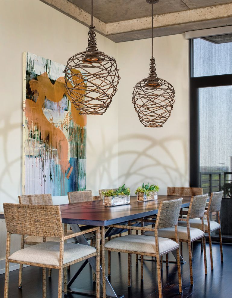Painting Light Switches   Rustic Dining Room Also Abstract Art Dining Table Light High Ceiling Large Scale Art Pendant Lights