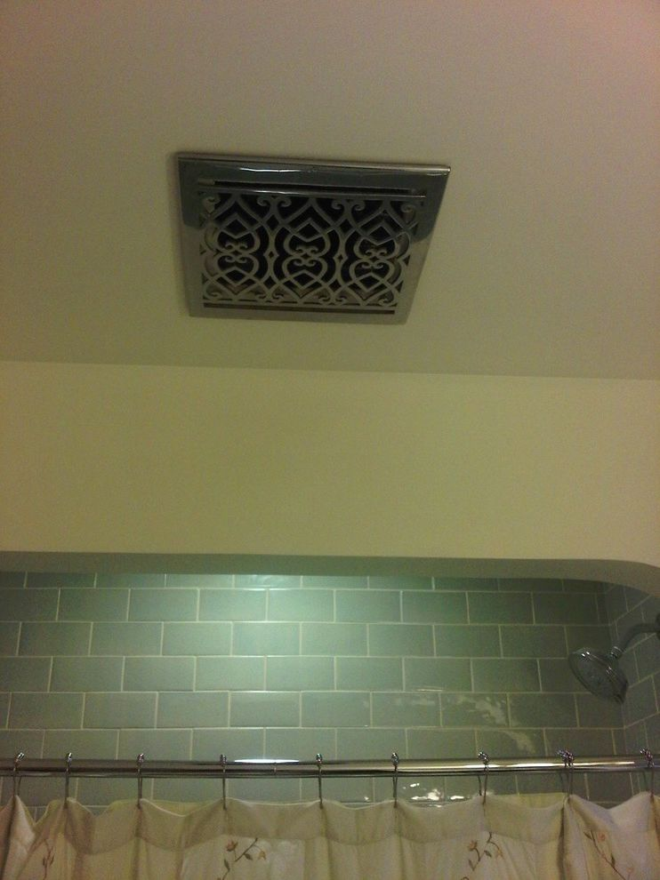 Panasonic Whisper Green Fan   Traditional Bathroom  and Traditional