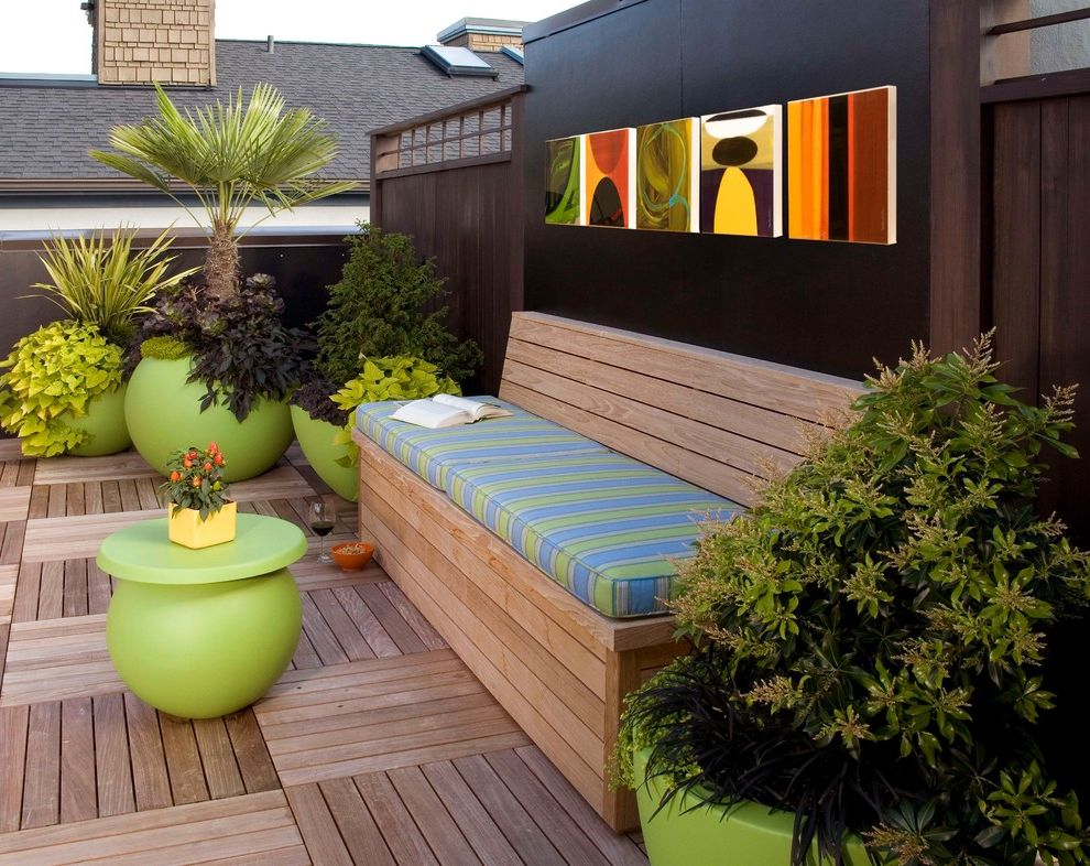 Park Benches for Sale   Modern Patio  and Bench Seating Colorful Pots Modern Coffee Table Potted Plants Roof Deck Seat Cushions Seattle Interior Designer Wall Art Wood Deck