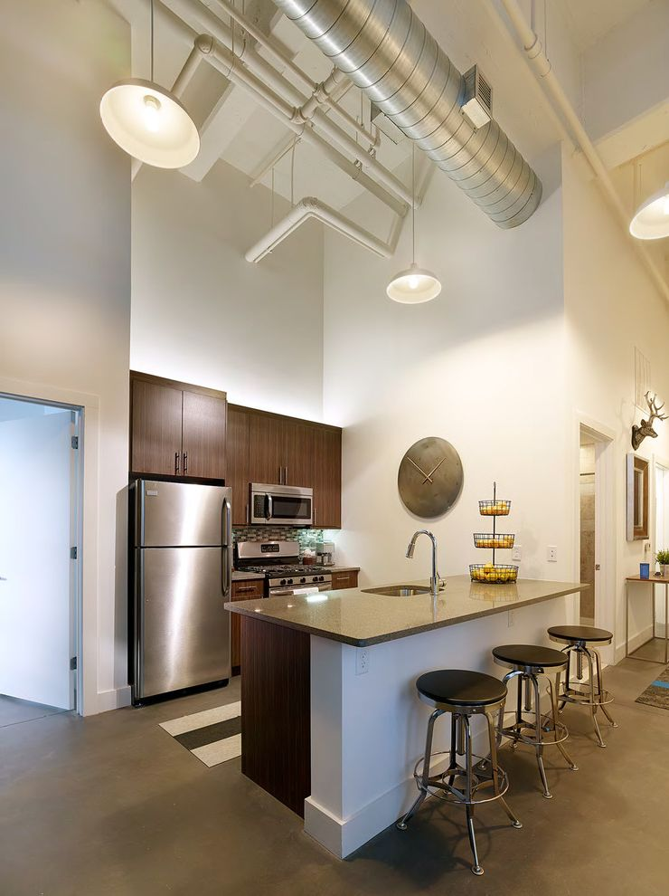 Parkway Lofts   Industrial Kitchen Also Industrial