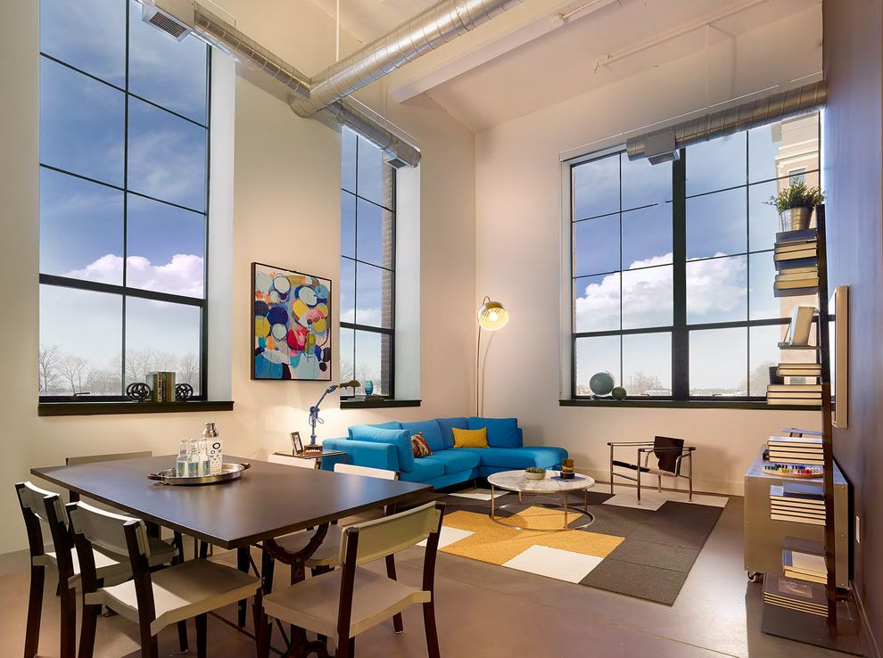 Parkway Lofts with Industrial Living Room  and Industrial