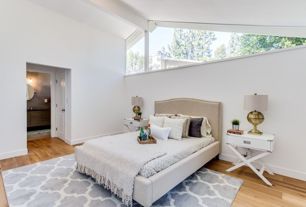 Paso Robles Craigslist with Transitional Bedroom Also Dining Tables Eichler Gray Throw Blanket Linen Bed Frame Master Bedroom Modern Landscape Open Floor Plan Pale Blue Rug Quatefoil Rug White Nightstand White Walls