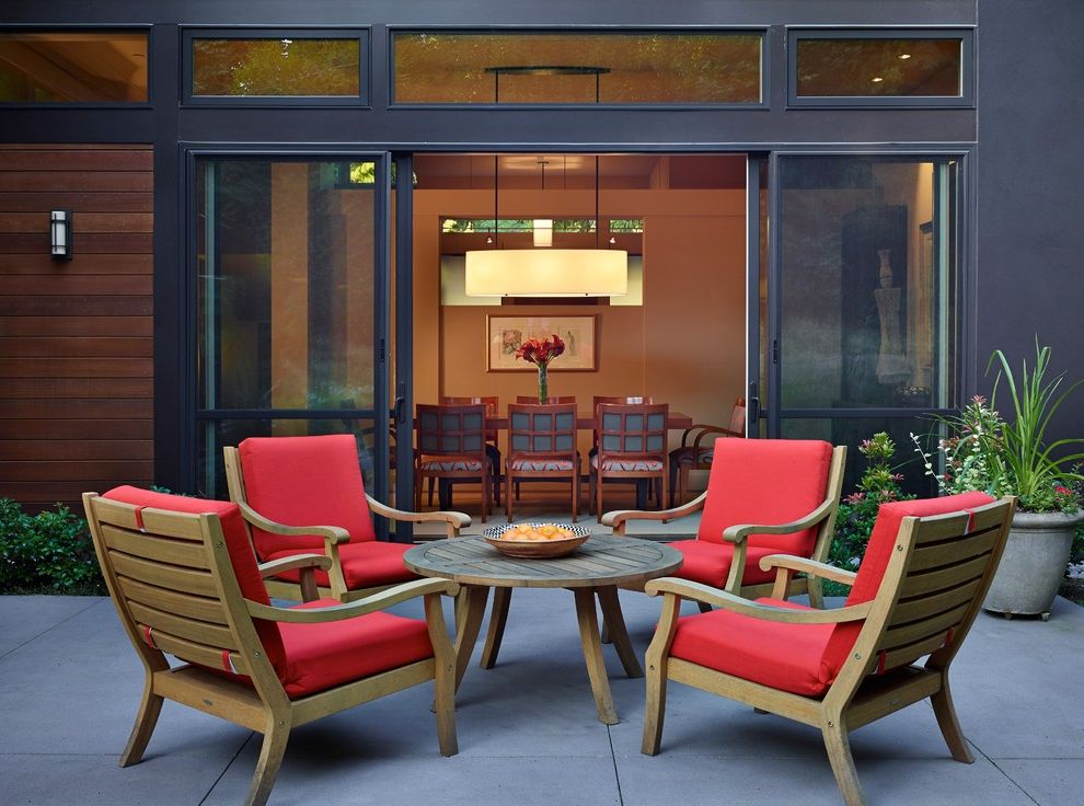 Patio Room Kit with Contemporary Patio Also Mercer Island Red Patio Cushions Sliding Glass Doors Wooden Patio Furniture