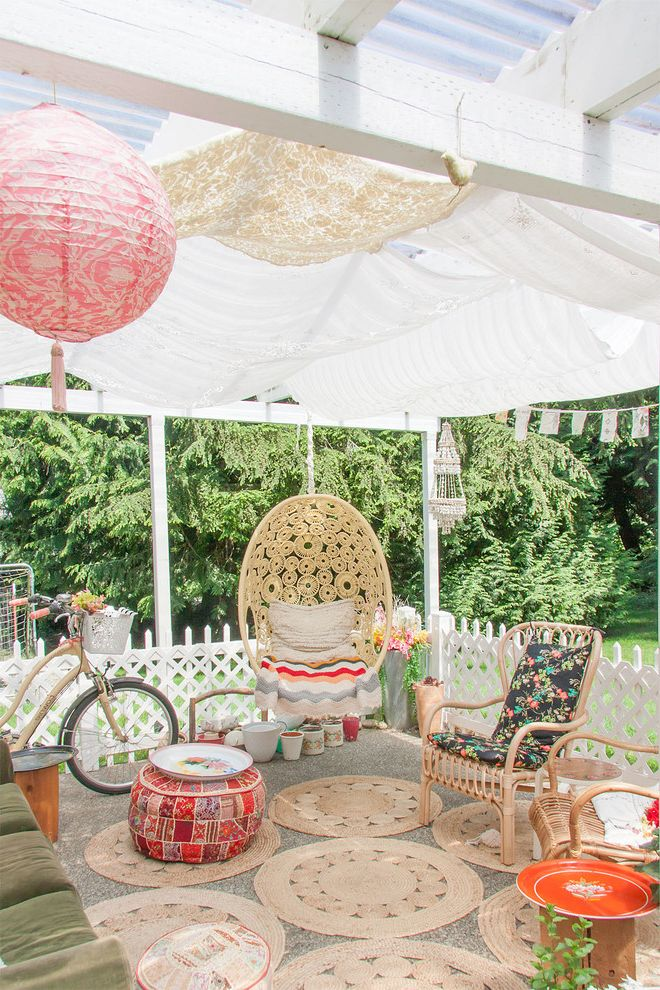 Patio Swing Set with Canopy   Shabby Chic Style Patio  and Artist Deck Hanging Chair Indoor Outdoor Indoor Outdoor Living Outdoor Dining Paper Lantern Patio Porch Swings Sleeping Porch