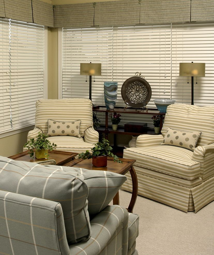 Paula Dean Furniture with Traditional Living Room Also Blinds Plaid Striped Stripes Turkish Corner Upholstery
