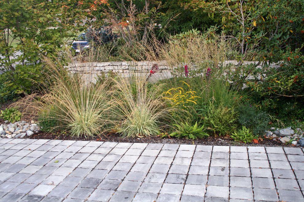 Paver Calculator   Modern Landscape  and Driveway Permeable Pavers Rain Garden