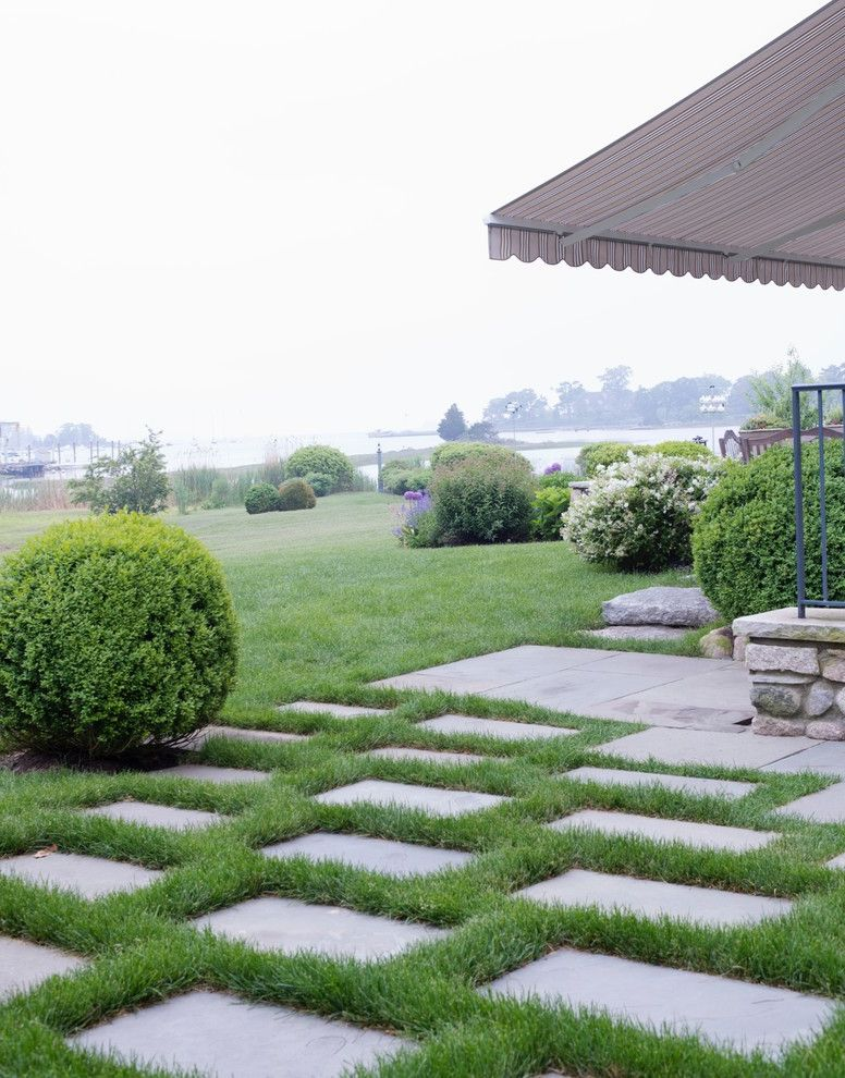 Paver Calculator with Traditional Landscape Also Awning Hedges Patio Shrubs Stepping Stones Waterfront