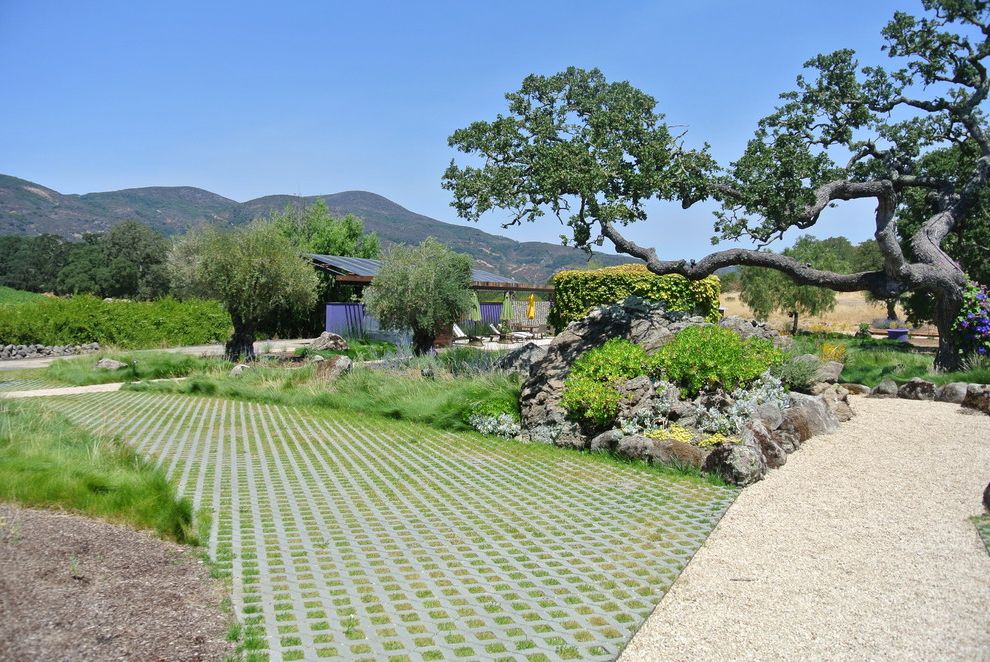 Paver Driveway Cost   Modern Landscape Also Boulder Dry Grasses Hills Landscape Mountains Napa Valley Permeable Pavement Pool Design Residential Sustainable View