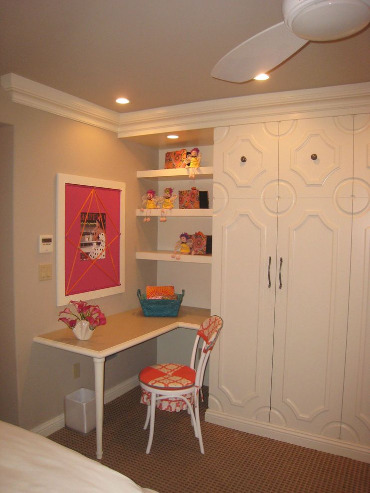 Phoenix Dream Center with Contemporary Bedroom and Built in Closet Contemporary Desk Girls Bedroom Moldings Photo Board