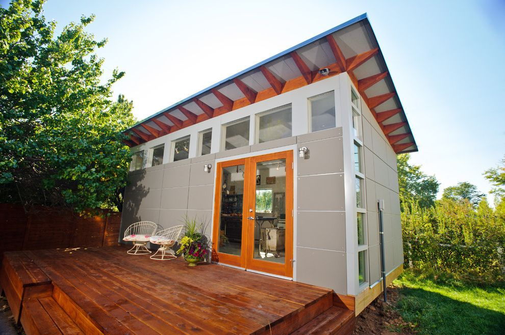 Photo Studio Rental Nyc with Modern Shed  and Art Studio Artists Clerestory Windows Finished Office Home Office Shed Shed Roof Studio Studio Shed Wood Deck Wood Patio