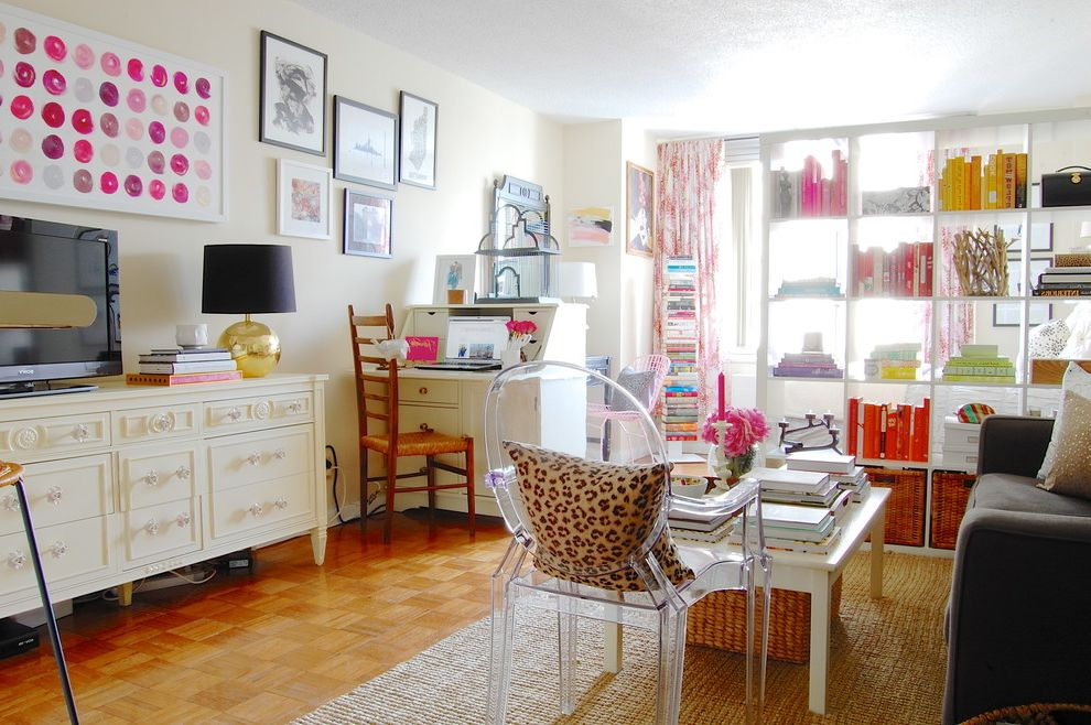 Photo Studio Rental Nyc with Shabby Chic Style Family Room  and Book Shelf Book Storage Colorful Expedit Bookcase Gallery Wall Jute Rug Manhattan Modern My Houzz New York Pink Secretary Space Trendy White Coffee Table York Ave