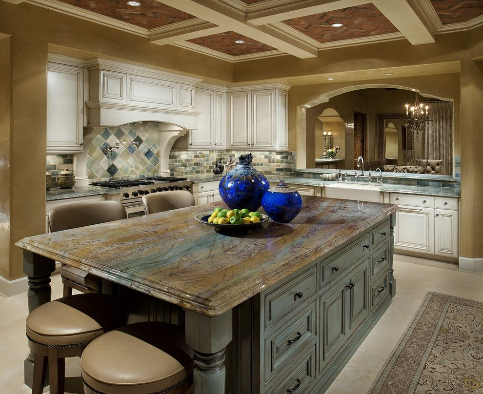 Picasso Granite   Traditional Kitchen Also Traditional