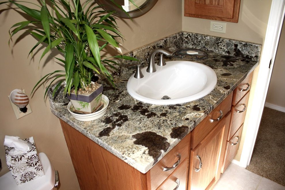 Picasso Granite with  Bathroom Also Bathroom Vanity Drop in Mccormick Tile Stone Picasso Granite