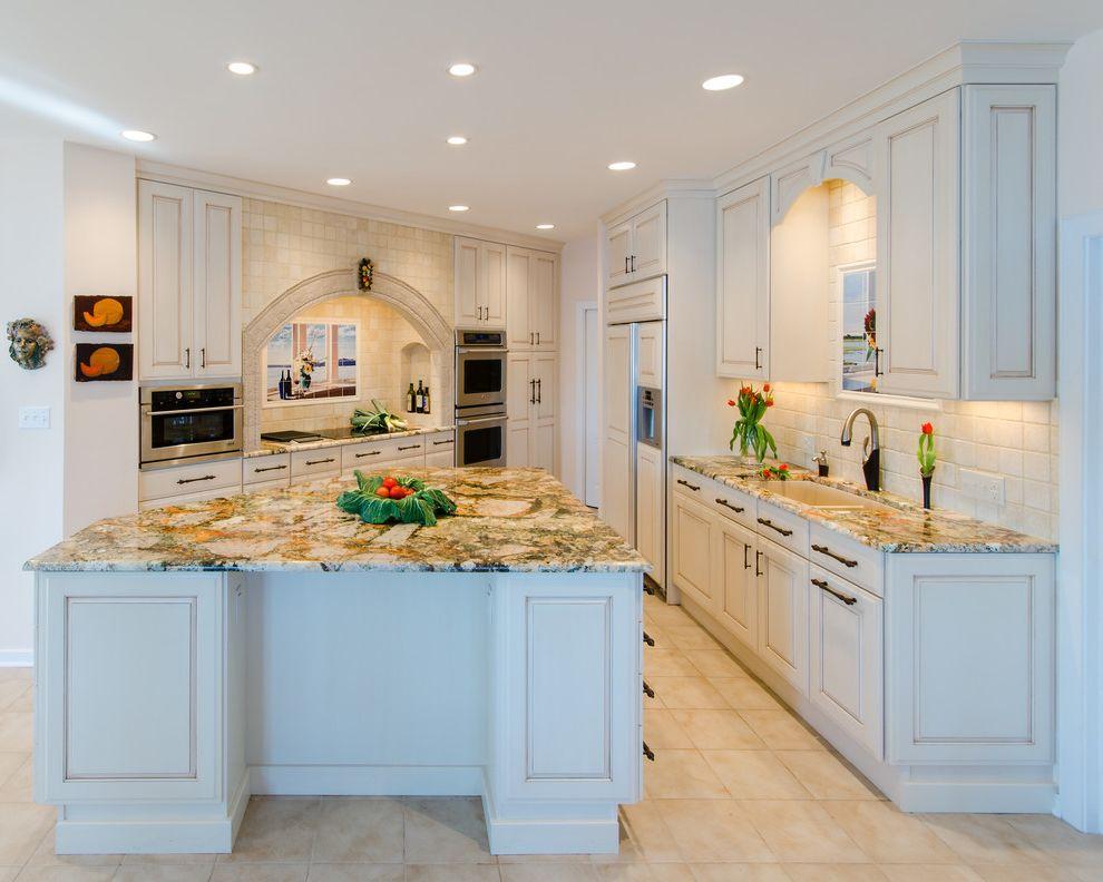 Picasso Granite with Traditional Kitchen Also Amaretto Glaze Island Picasso Granite Tile Backsplash