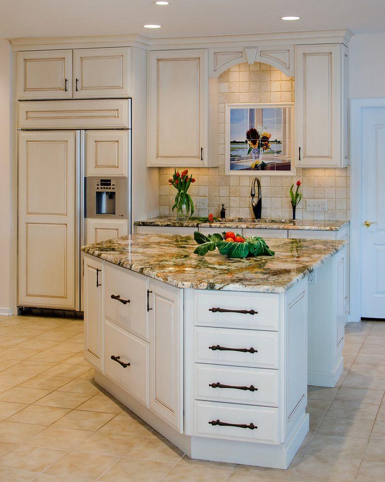 Picasso Granite with Traditional Spaces Also Amaretto Glaze Island Picasso Granite Tile Backsplash