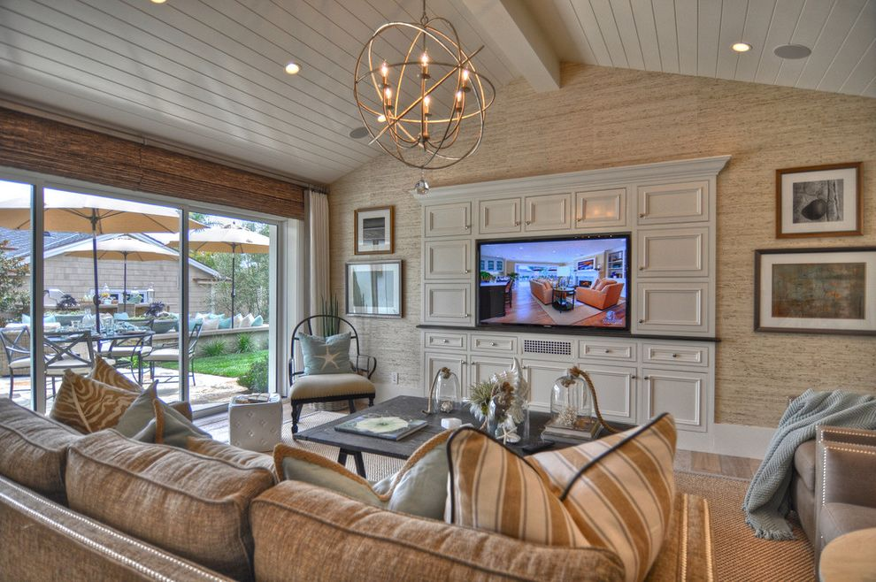 Plae Flooring with Beach Style Family Room Also Beach Style