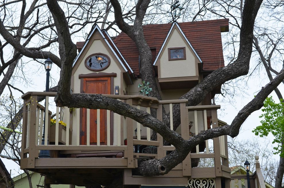 Playhouse Dallas   Eclectic Landscape Also Adventure Children Craftsman Curvan Educational Fun Home House Imagination James Kids Materials Play Playhouse Pretend Repurposed Scale Small Tiny Tree Wood