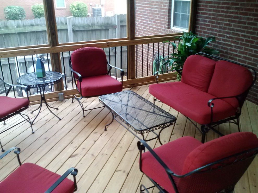 Plumber Warner Robins Ga   Traditional Porch Also Archadeck Central Ga Large Porch Open Rafters Screened Porch Warner Robins Porch Builder