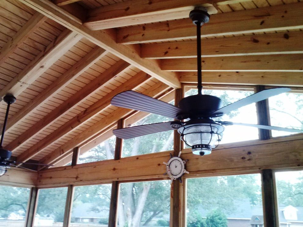 Plumber Warner Robins Ga   Traditional Porch  and Archadeck Central Ga Large Porch Open Rafters Screened Porch Warner Robins Porch Builder